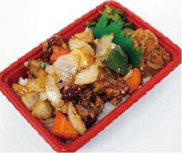 鶏黒酢丼 550円