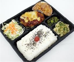 チーズハンバーグ&生姜焼き弁当 730円
